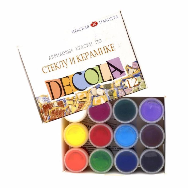 Купить Набор красок по стеклу и керамике Decola 12 цв*20 мл, Россия