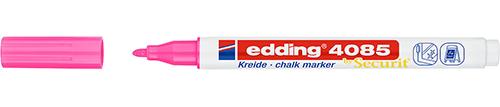 Купить Маркер меловой Edding 4085 1-2 мм с круглым наконечником, розовый неоновый, Германия