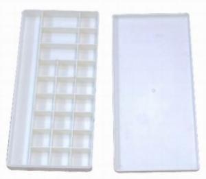 Купить Палитра пластиковая 13х29x2, 8 см с крышкой, Китай