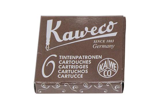 Купить со скидкой Набор картриджей для перьевых ручек Kaweco 6 шт, Карамельно-коричневый