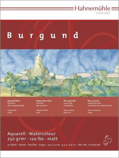 Купить Альбом-склейка для акварели Hahnemuhle Burgund 24x32 см 20 л 250 г 100% целлюлоза, HAHNEMUHLE FINEART, Германия