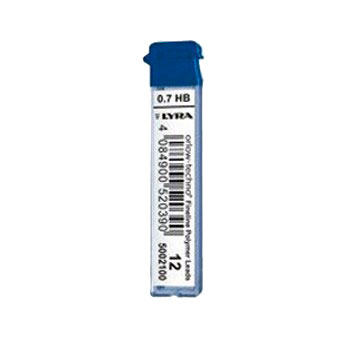 Набор грифелей для механического карандаша Lyra 12 шт 0, 7 мм, H, Германия  - купить со скидкой