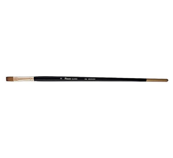 Кисть колонок №6 плоская Pinax Artists Classic длинная ручка, Китай  - купить со скидкой