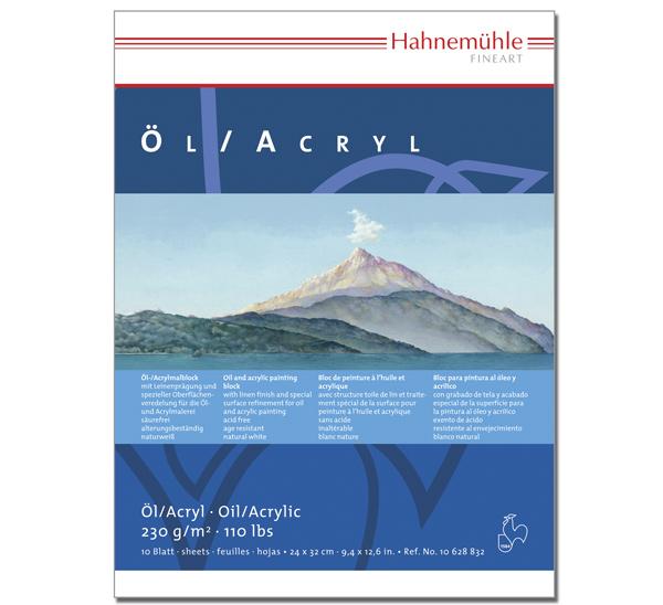 Купить Альбом-склейка для акрила и масла Hahnemuhle Ol/Acryl 24х32 см 10 л 230 г, HAHNEMUHLE FINEART, Германия