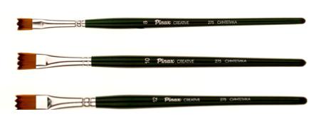 Купить Кисть синтетика №12 плоская зигзаг Pinax Creative 275 короткая ручка, Китай