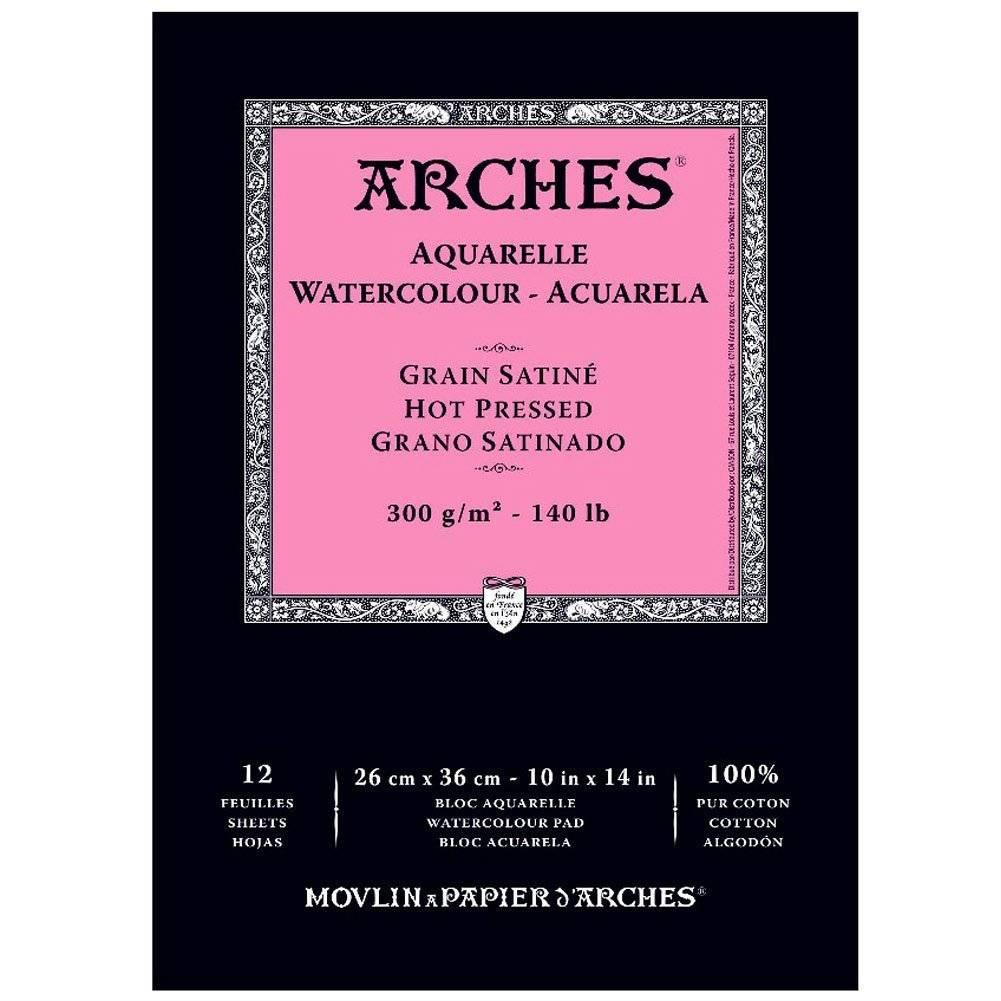 Купить Альбом-склейка для акварели Canson Arches Satin 26х36 см 12 л 300 г, Франция