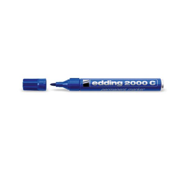 Купить Маркер перманентный Edding 2000 1, 5-3 мм с круглым наконечником, в блистере, синий, Германия