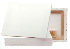 Купить Холст на подрамнике грунтованный Реалистик мелкозернистый 40x70 см, Россия
