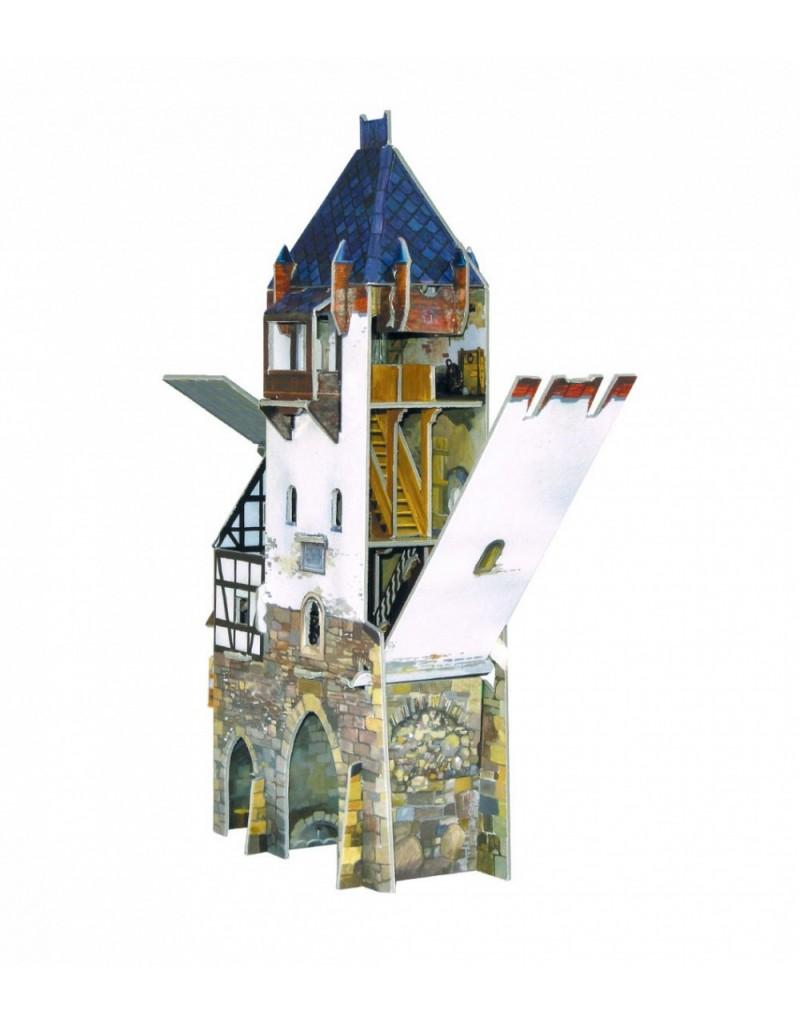 Купить Игровой набор из картона Средневековый город Дозорная башня , Умная бумага, Россия