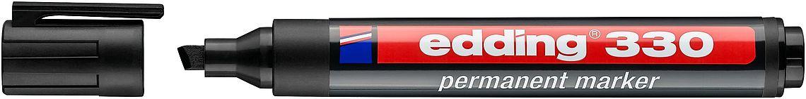 Купить Маркер перманентный Edding 330 1-5 мм со скошенным наконечником, черный, Германия