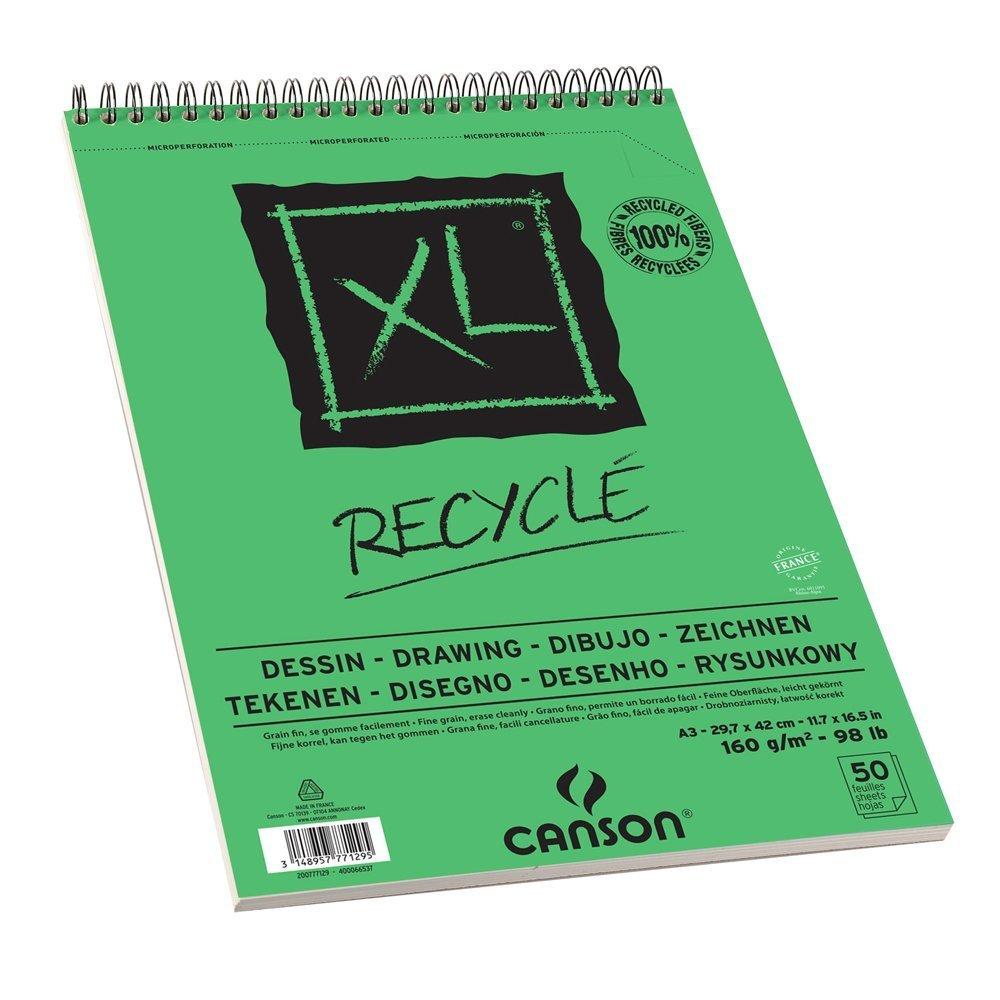 Купить Альбом для графики на спирали Canson XL Recycled 29, 7х42 см 50 л 160 г, Франция