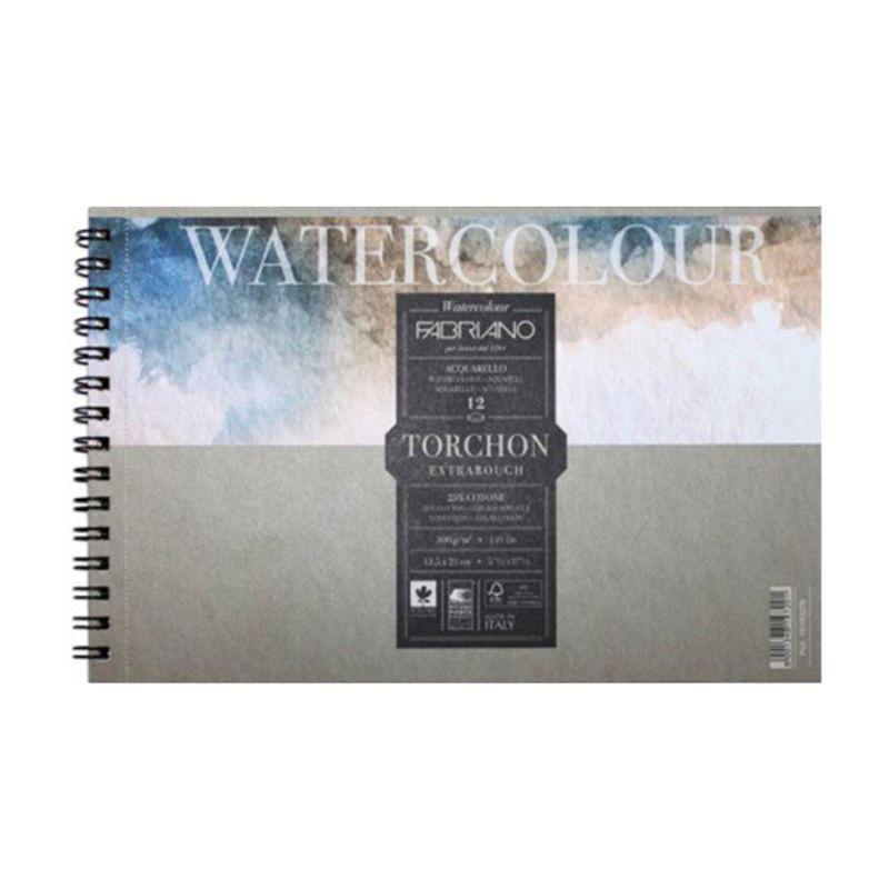 Купить Альбом для акварели на спирали Fabriano Watercolour studio Torchon 21x29, 7 см 12 л 300 г, Италия