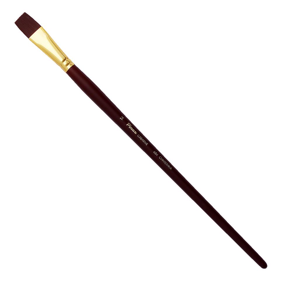 Купить Кисть синтетика №14 плоская Pinax Creative 684 жесткая, длинная ручка, Китай