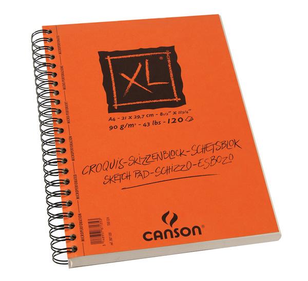 Купить Альбом для графики на спирали Canson XL Croquis 21х29, 7 см 120 л 90 г слоновая кость, Франция