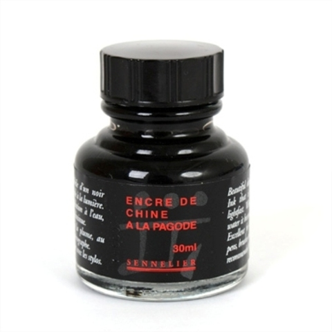 Купить Тушь Sennelier 30 мл Китайская (черная), Франция