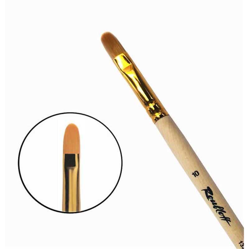 Купить Кисть синтетика №10 овальная Roubloff 1332 длинная ручка п/лак, Россия