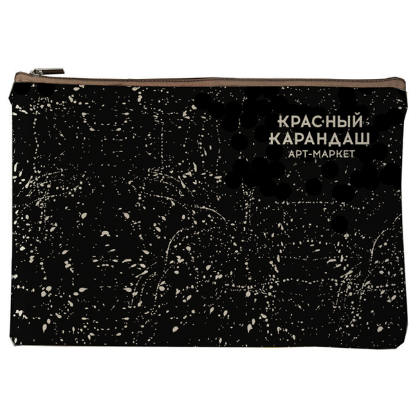 Купить Пенал Красный Карандаш 23*16 см, хлопок, черный, Россия