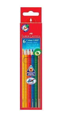 """Набор карандашей акварельных Faber-castell """"Colour Grip"""" 6 цв в картоне"""