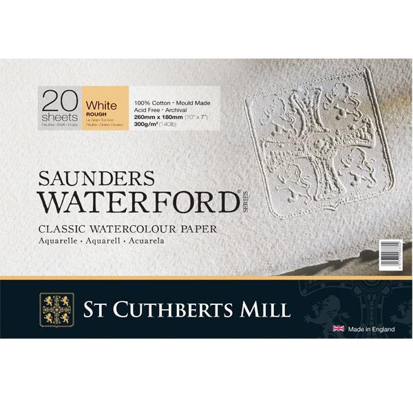 Купить Альбом-склейка для акварели Saunders Waterford Rough крупное зерно 26х18 см 20 л 300 г белый, St Cuthberts Mill, Великобритания