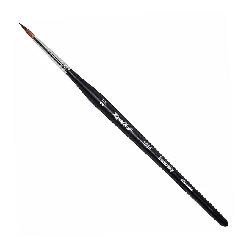 Купить Кисть колонок круглая Roubloff 101F фигурная коротка ручка, матовая, Россия