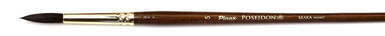 Купить Кисть белка микс №5 круглая Pinax Poseidon 801 длинная ручка, Китай