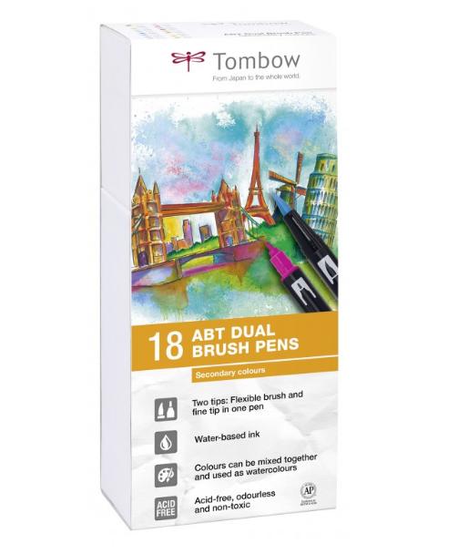 Купить Набор маркеров Tombow ABT 18 цв, основные цвета 2, Япония