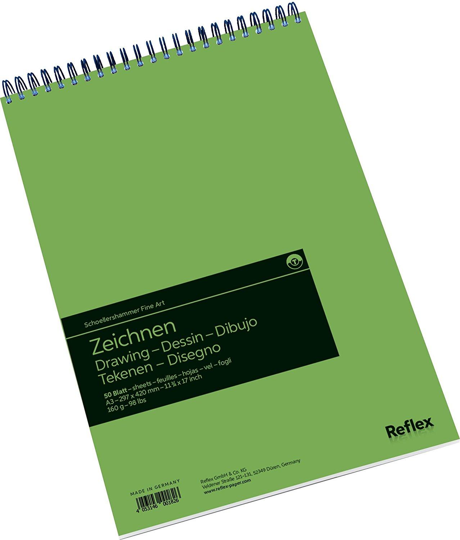 Купить Альбом для графики на спирали Reflex 29, 7х42 см 50 л 160 г, Германия