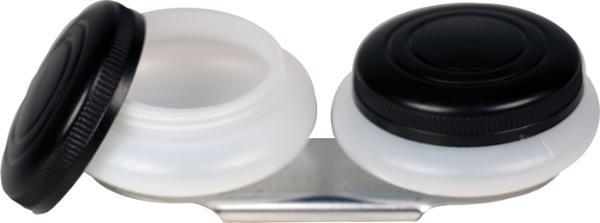 Купить Масленка двойная d-4, 5 см пластиковая-пузатая, с крышкой, Китай