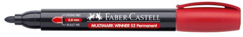 Купить Маркер перманентный Faber-Castell Winner 52 1-2 мм, с круглый наконечником, красный, Faber–Сastell, Германия