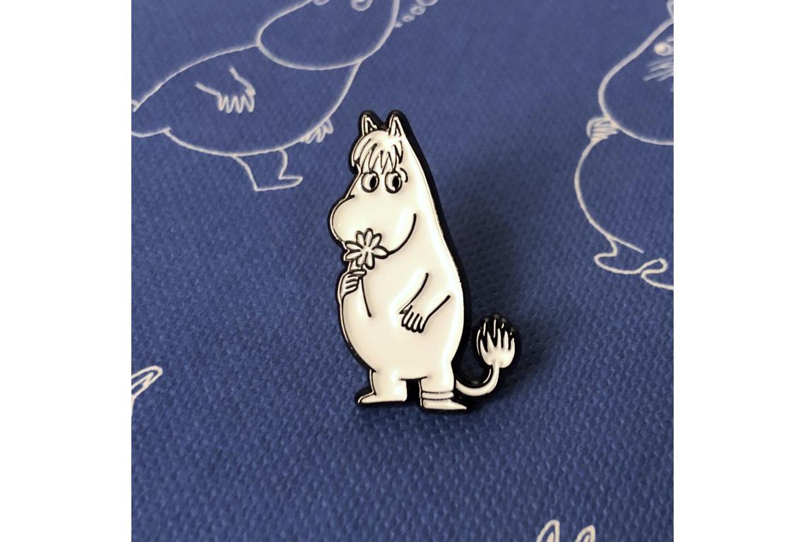 Купить Значок эмалированный Муми-тролли Фрекен Снорк с цветком, Подписные издания, Россия