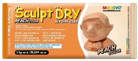 Купить Глина для моделирования Mungyo Sculpt Dry 1000 г персиковая, Южная Корея