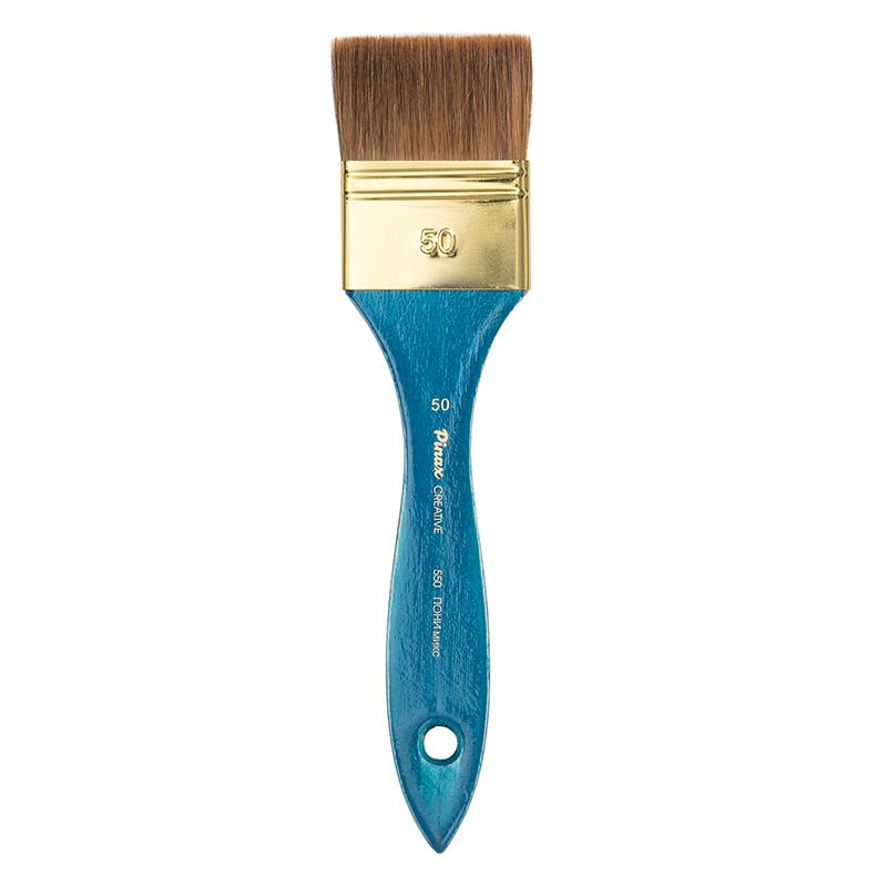 Купить Кисть пони микс №50 флейц Pinax Creative 550 короткая ручка, Китай