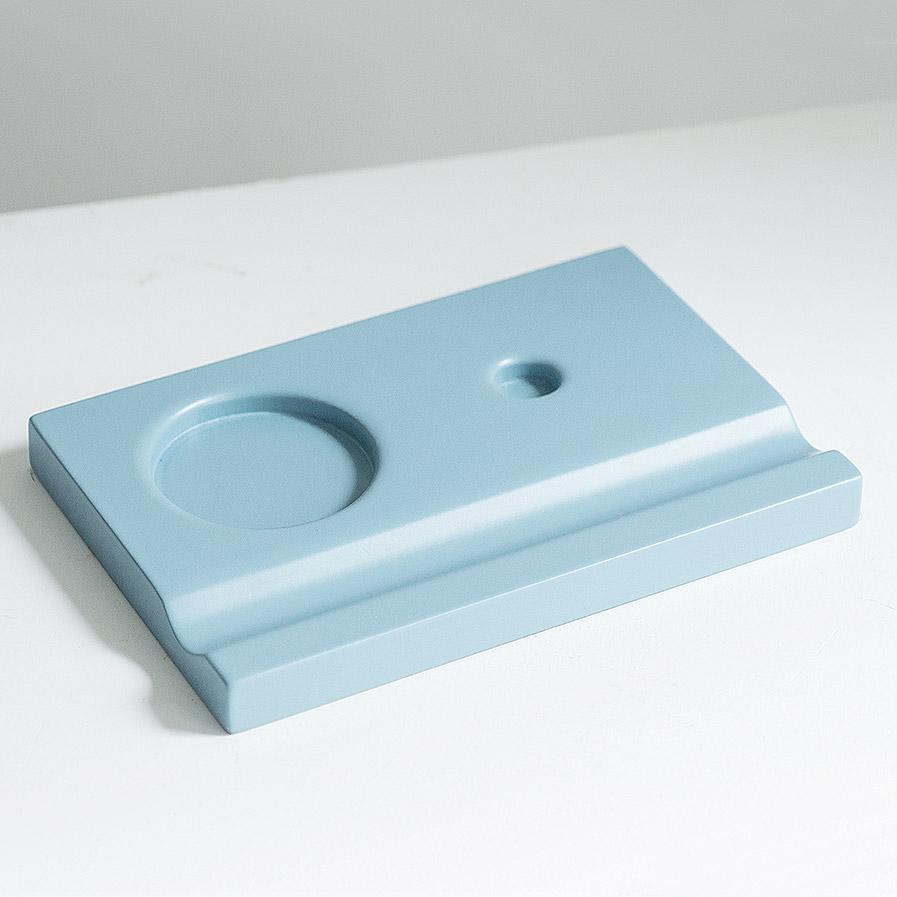 Подставка для чернильницы-непроливайки, цвет голубой