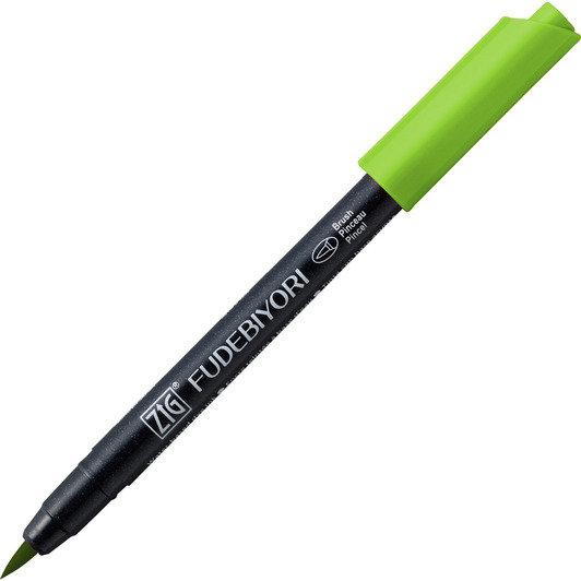 Купить Ручка на водной основе, перо кисть ZIG Kuretake Fudebiyori Светло-зеленый, Япония