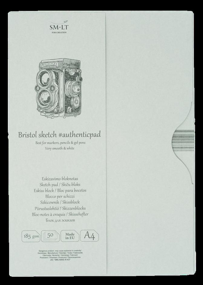 Купить Альбом-склейка для графики Smiltainis Authentic Bristol A4 50 л 185 г в папке, Китай