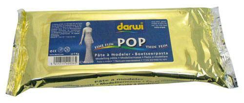 """Масса для моделирования """"DARWI-POP"""" 1 кг Белая для тонких работ"""