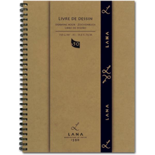 Купить Альбом для рисования на спирали Lana Livre de Dessin А4 50 л 150 г, Франция