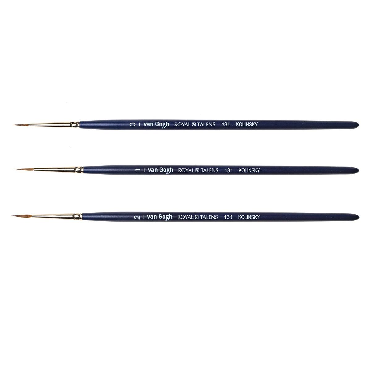 Кисть колонок круглая Van Gogh 131 короткая ручка, Royal Talens, Россия  - купить со скидкой