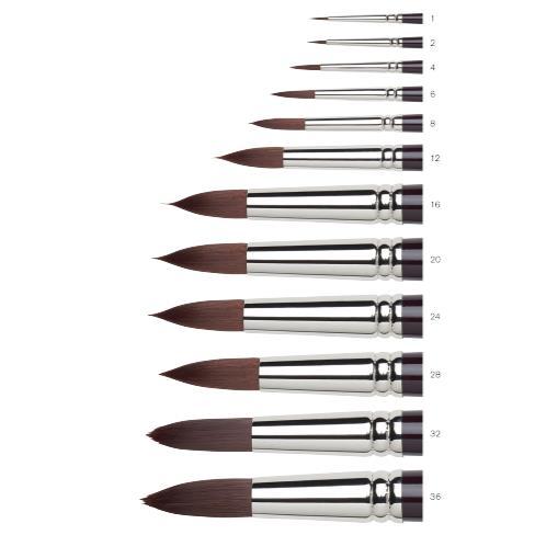Купить Кисть синтетика №6 круглая Winsor&Newton GALERIA удлиненная выставка, длинная ручка, Winsor & Newton