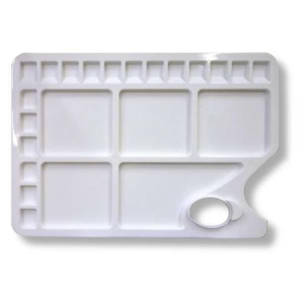 Купить Палитра пластиковая прямоугольная 34х23, 4 см, Невская Палитра, Россия