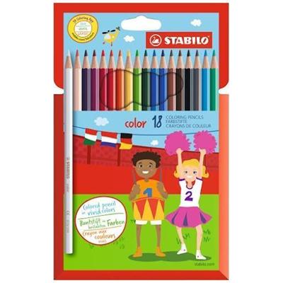 Набор карандашей цветных Stabilo Swano Color 18 цв в картонной коробке, Германия  - купить со скидкой
