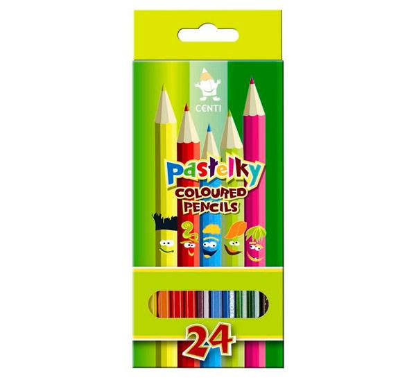 Купить Набор карандашей цветных Koh-I-Noor Pastelky 24 шт в картоне, KOH–I–NOOR, Чехия