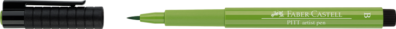 """Ручка капиллярная Faber-Castell """"Pitt artist pen"""" B, майская зелень"""