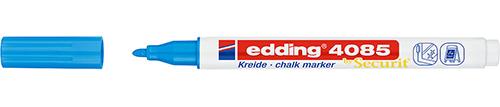 Купить Маркер меловой Edding 4085 1-2 мм с круглым наконечником, голубой, Германия