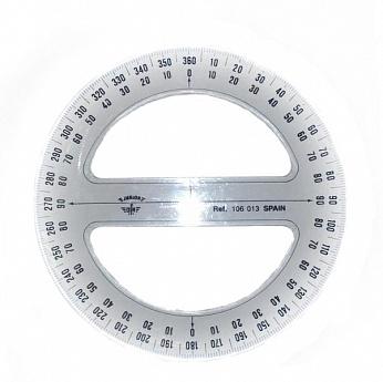 Купить Транспортир Domingo Ferrer 13 см 360 градусов, Испания
