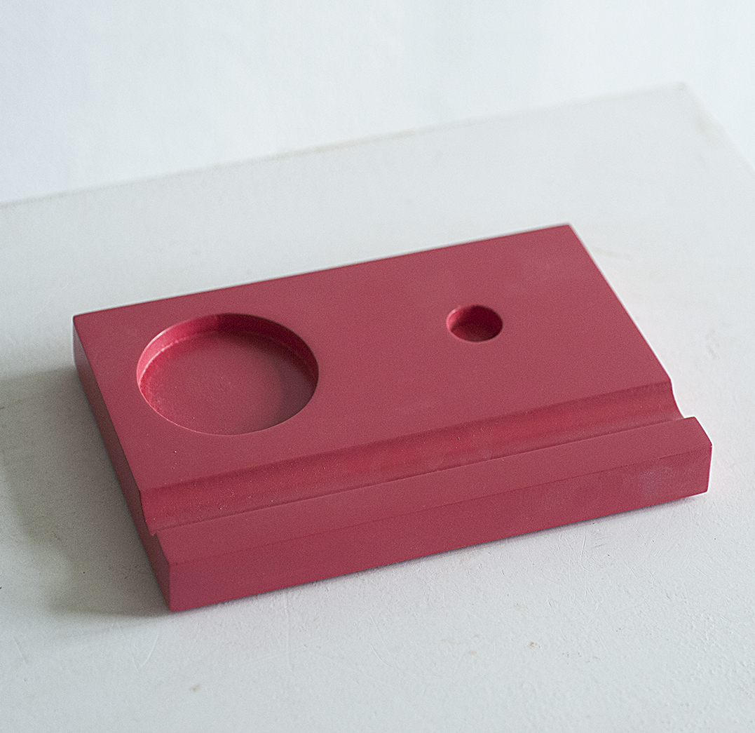 Подставка для чернильницы-непроливайки, цвет красный