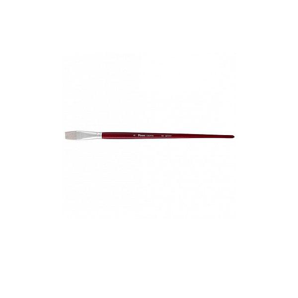 Купить Кисть щетина №1 плоская Pinax Creative 104 длинная ручка, Китай