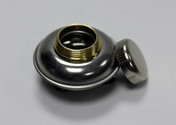 Купить Масленка одинарная d-1, 7 см с крышкой, пузатая металлическая, Китай