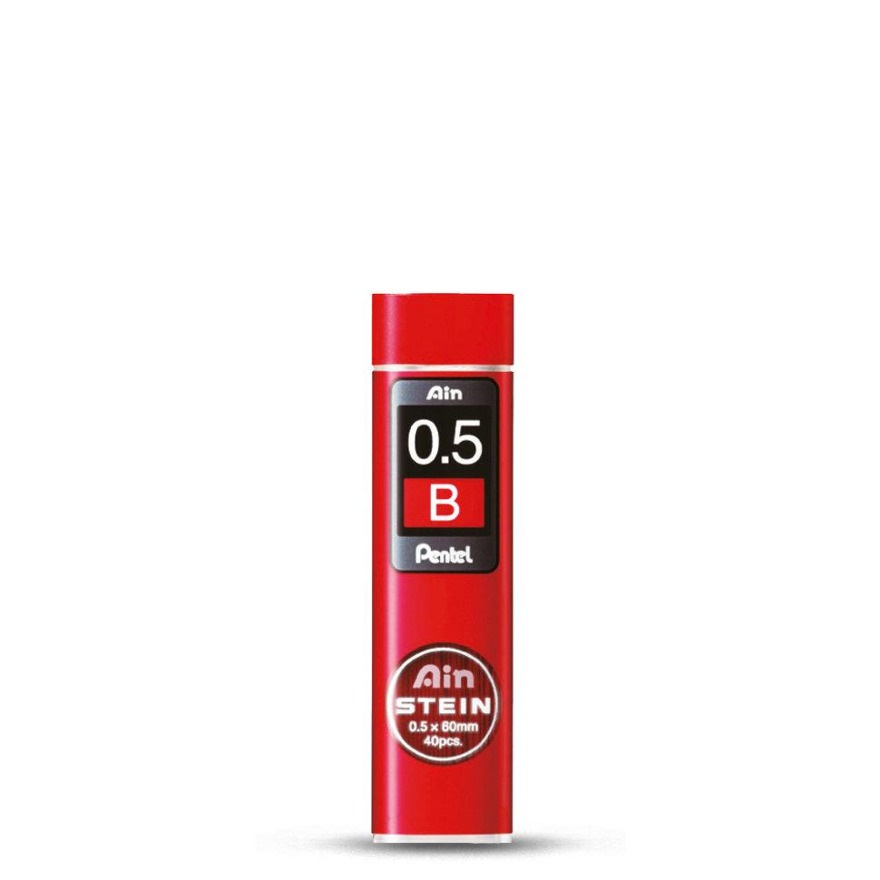 Купить Набор грифелей для механического карандаша Pentel Ain Stein 40 шт 0, 5 мм, B, Япония