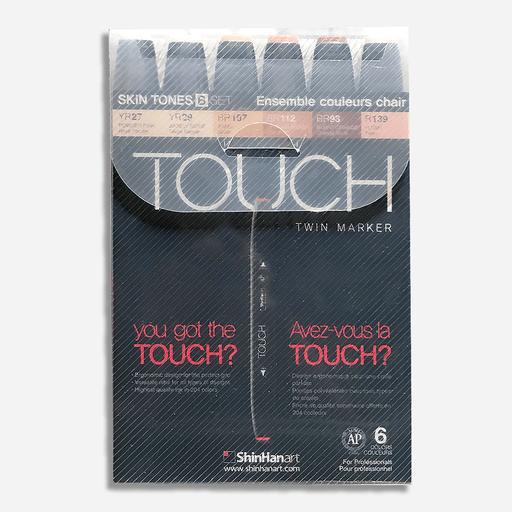 Купить Набор маркеров Touch Twin 6 цв, телесные тона B, ShinHan Art (Touch), Южная Корея